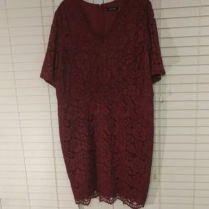Lace Dress In Merlot